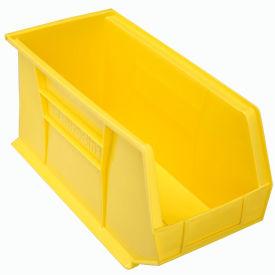 "Akro-Mils AkroBin® Plastic Stacking Bin 30265 - 8-1/4""W x 18""D x 9""H, Yellow - Pkg Qty 6"