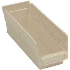 """Nesting Storage Bin - Plastic 4-1/8""""W x 11-5/8""""D x 4""""H Beige - Pkg Qty 24"""