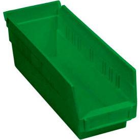 """Plastic Shelf Bin -  4-1/8""""W x 11-5/8""""D x 4""""H Green - Pkg Qty 24"""