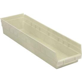 """Nesting Storage Bin - Plastic 6-5/8""""W x 23-5/8"""" D x 4""""H Beige - Pkg Qty 6"""