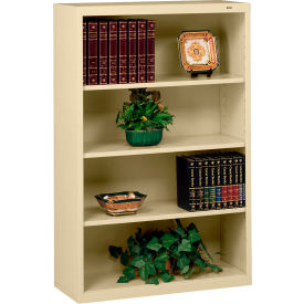 """Welded Steel Bookcase 52""""H - Sand"""