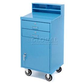 """23""""W x 20""""D Enclosed Mobile Shop Desk  -  Blue"""