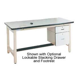 72 X 30 Adjustable Leg Heavy Duty Anti-Static Top Workbench - Beige