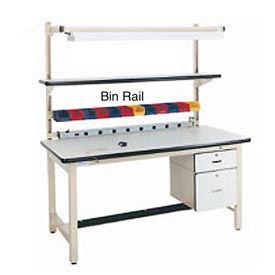 "72""L Bin Rail for Workstation - Beige"