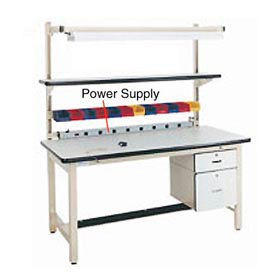 "72"" L Power Supply with Mounting Rail Beige by"