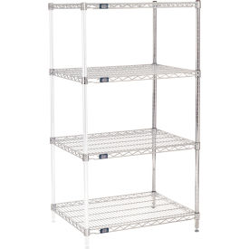 "54""H Nexel Chrome Wire Shelving Add-On - 30""W X 24""D"