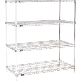 "54""H Nexel Chrome Wire Shelving Add-On - 48""W X 24""D"