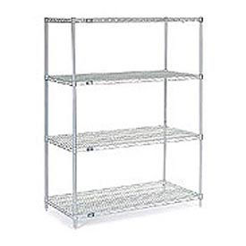 "54""H Nexel Chrome Wire Shelving - 48""W X 30""D"