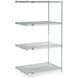 "54""H Nexel Chrome Wire Shelving Add-On - 48""W X 30""D"