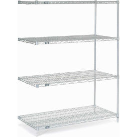 "54""H Nexel Chrome Wire Shelving Add-On - 60""W X 30""D"