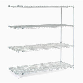 "54""H Nexel Chrome Wire Shelving Add-On - 72""W X 30""D"