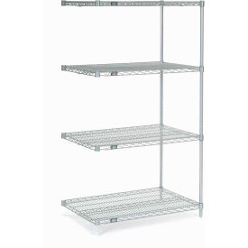 "54""H Nexel Chrome Wire Shelving Add-On - 48""W X 36""D"