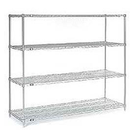 "54""H Nexel Chrome Wire Shelving - 72""W X 36""D"