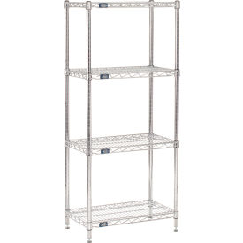"63""H Nexel Chrome Wire Shelving - 24""W X 14""D"