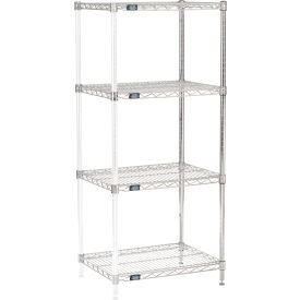 "63""H Nexel Chrome Wire Shelving Add-On - 24""W X 18""D"