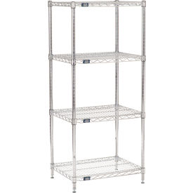 "63""H Nexel Chrome Wire Shelving - 30""W X 18""D"