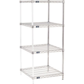 "63""H Nexel Chrome Wire Shelving Add-On - 24""W X 24""D"