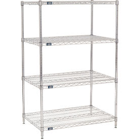 "63""H Nexel Chrome Wire Shelving - 42""W X 24""D"