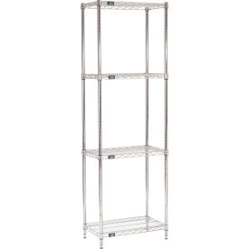 "74""H Nexel Chrome Wire Shelving - 30""W X 14""D"
