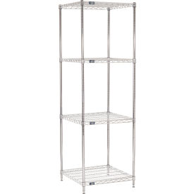 "74""H Nexel Chrome Wire Shelving - 24""W X 24""D"