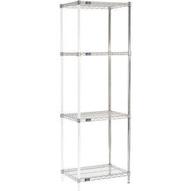 "86""H Nexel Chrome Wire Shelving Add-On - 24""W X 18""D"