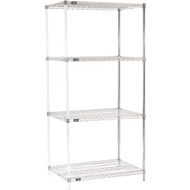 "86""H Nexel Chrome Wire Shelving Add-On - 42""W X 24""D"
