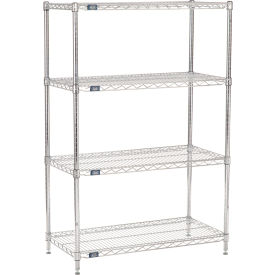 "63""H Nexel Chrome Wire Shelving - 36""W X 18""D, NSF Certified"