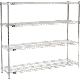"63""H Nexel Chrome Wire Shelving - 60""W X 18""D, NSF Certified"