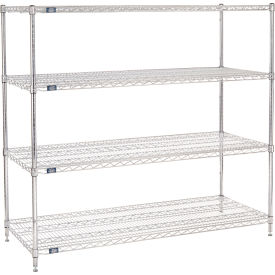"63""H Nexel Chrome Wire Shelving - 60""W X 24""D"