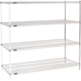 "63""H Nexel Chrome Wire Shelving Add-On - 60""W X 24""D"