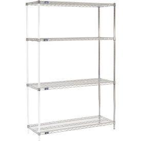 "74""H Nexel Chrome Wire Shelving Add-On - 48""W X 18""D"