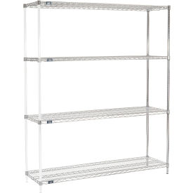 "74""H Nexel Chrome Wire Shelving Add-On - 60""W X 18""D"