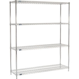 "86""H Nexel Chrome Wire Shelving - 72""W X 18""D"