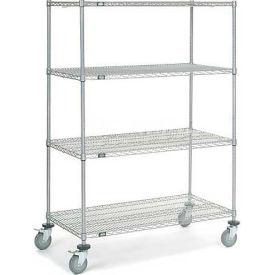 Nexel® Chrome Wire Shelf Truck 48x24x69 1200 Pound Capacity