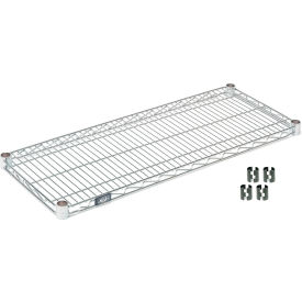 """Nexel S1830C Chrome Wire Shelf 30""""W x 18""""D with Clips"""