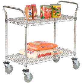 Nexel® Wire Utility Cart 48x24 2 Shelves 800 Lb. Capacity