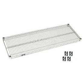 Chrome Wire Shelf 42 x 24 with Clips