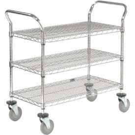 Nexel® Wire Utility Cart 36x24 3 Shelves 800 Lb. Capacity