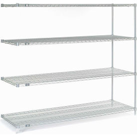 "Nexel Poly-Z-Brite Wire Shelving Add-On 54""W X 18""D X 63""H"