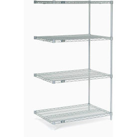 "Nexel Poly-Z-Brite Wire Shelving Add-On 36""W X 24""D X 63""H"