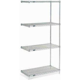 "Nexel Poly-Z-Brite Wire Shelving Add-On 42""W X 24""D X 74""H"