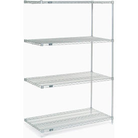 "Nexel Poly-Z-Brite Wire Shelving Add-On 48""W X 24""D X 74""H"