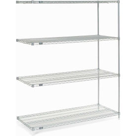"Nexel Poly-Z-Brite Wire Shelving Add-On 42""W X 18""D X 86""H"
