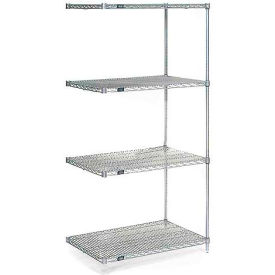 "Nexel Poly-Z-Brite Wire Shelving Add-On 30""W X 24""D X 86""H"
