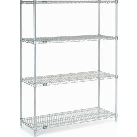"Nexel Stainless Steel Wire Shelving 48""W X 18""D X 63""H"