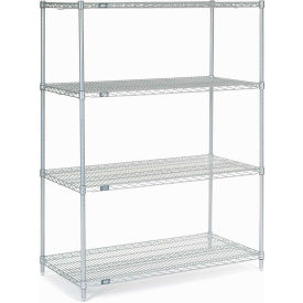 """Nexel Stainless Steel Wire Shelving 48""""W X 24""""D X 63""""H"""