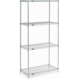 "Nexel Stainless Steel Wire Shelving 36""W X 18""D X 74""H"