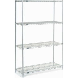 "Nexel Stainless Steel Wire Shelving 48""W X 18""D X 74""H"