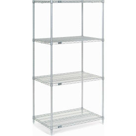 "Nexel Stainless Steel Wire Shelving 36""W X 24""D X 74""H"