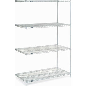 """Nexel Stainless Steel Wire Shelving Add-On 48""""W X 24""""D X 74""""H"""